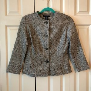 Banana Republic Brown & Beige Pattern Lined Jacket